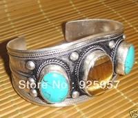 tibet tiger's eye stone&Turquoise bracelet cuff Fashion jewelry