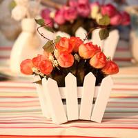 Fashion rustic living room coffee table dresser artificial flower set dried flowers silk flower decoration