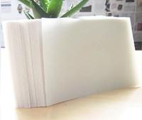 1000pcs/lot 86*54*0.38mm PVC transparent thin matte Business cards material/plastic business cards