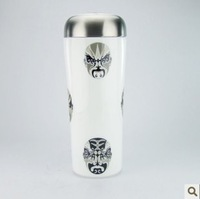 Ceramic stainless steel double layer vacuum cup stainless steel liner 304 car cup mug cup gift cup