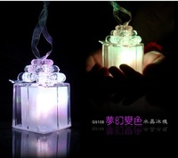 Christmas gift flash discoloration crystal ice small gift