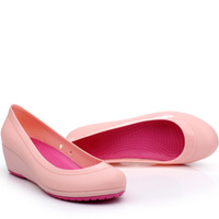 JELLY CLOG SANDALS Cymbidium new arrival togreenharbor carrie sandals candy color block decoration hole shoes wedges sandals