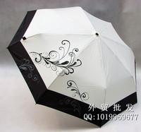 Mini Umbrellas Knirps three folding classic black and white ultra-light aluminum alloy Umbrella + FREE SHIPPING