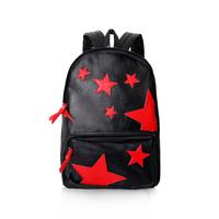 2013 backpack casual street PU bags five star double backpack women's handbag