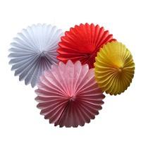 16'' 100ps/lot Free shipping Birthday Decor paper flowers foldable lantern Tissue fans wedding decoration