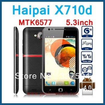 MTK6577 android phone Haipai X710D 5.3 inch Capacitive screen 1.2GHz GPS WIFI Android 4.0.9 Free gift