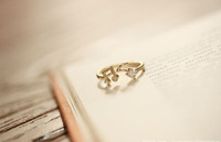 $ 10 Free Post notes threaded opening adjustable ring