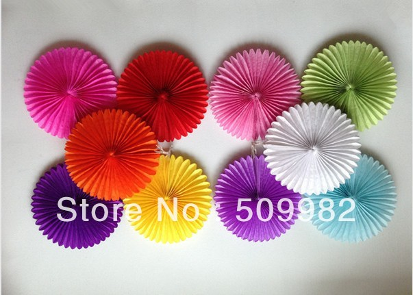 10'' 10ps Mixed Color Honeycomb Flower lantern Fan design paper lanterns foldable lantern Tissue fans Craft idea Cute Party(China (Mainland))