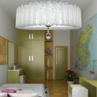 Led ceiling light pvc ceiling light crystal lamp living room lights bedroom lamp fashion brief lighting
