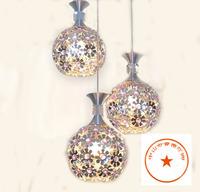 Brief fashion three head single head pendant light bar lamp crystal pendant lamp restaurant lamp lighting