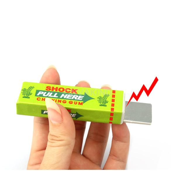 #Cu3 Safety Trick Joke Toy Electric Shock Shocking Chewing Gum Pull Head(China (Mainland))
