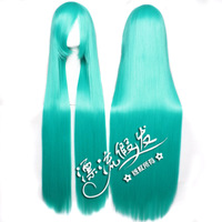 Floating straight hair sound at the beginning of MIKU green edition 100 cm long straight hair cosplay wig