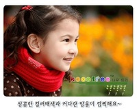 Fashion  1pcs Free Shipping O-Scarf Lowest Price 5 Colors Children's Muffler Baby Autumn Warm Scarf Boy /Girl Knitted Ring