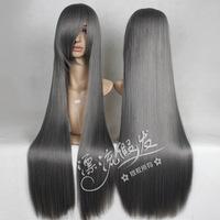 80 cm straight cosplay wig/silver     cos wig dark gray color