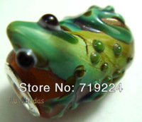 925 silver core 4.5mm hole Animal lizard Design glass bead charms fit European style Bracelets ZZXY-13