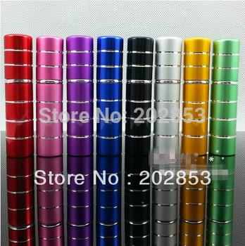 2015 Glass Perfume Atomizer Free Shipping Wholesale 5ml Anodized Aluminum Empty Perfume Bottle Travel Refillable Spray Atomizer