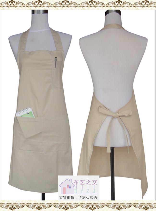 wholesale Aprons fashion aprons work aprons fabric apron black khaki(China (Mainland))