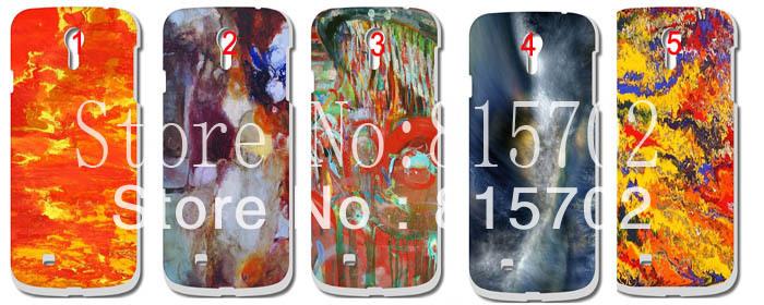 New glossy abstract patter artist graffiti Hard Case Cover for Galaxy S4 SIV I9500 10pcs/lot free shipping(China (Mainland))