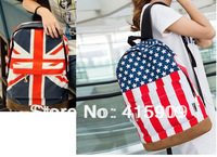 free shipping  word flag american flag fashionable casual backpack middle school students school bag