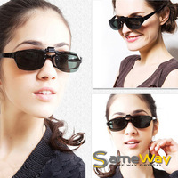 SAMEWAY OPTICAL Clip On Glasses, Great As Driving Sunglasses,  UV400 block UV rays Clipons