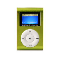 Mini clip MP3 player with screen ,clip mp3 player with retail package USB + Earphone + crystal box Free Shipping