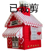 Shears three-dimensional embroidery cross stitch three-dimensional cross-stitch candy tissue box