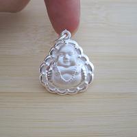 99 999 fine silver necklace pendant 990 pure silver buddha pendant pure silver necklace pendant safe lock