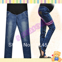 2013 Hot Sale New Fashion Women Tops Maternity Jeans Pregnant Clothes Prop Jean Pants Trousers Jeans 13729