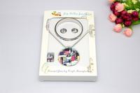 Free Shipping! 4pcs/set Newest Fashion Enamel Jewelry Set(Necklace, Earring, Ring, Bangle).