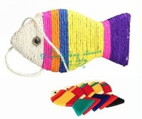 Brand New Hot Sell Personality Pet Cat Toy Lovely Fish Shape Cat Scratch Board Hot Drop Shipping/Free Shipping