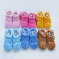 wholesale Baby Shoes,Coral woolen Baby Socks,newborn baby shoes 6pairs per lot free shipping