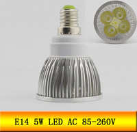 6pcs E14 5W  Warm White Energy Saving High power LED Spotlight Bulb 85V-260V led lamp FREE SHIPPING