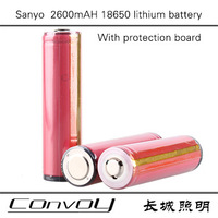 Free shipping Sanyo UR18650F 18650 2600mAh Protected Rechargeable Lithium Batteries  protected