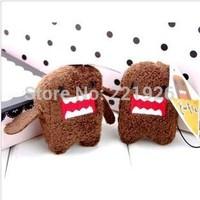Free Shipping Domo Kun Teddy Anime Keychain Keyring Plush Doll JDM Japanese Toy Phone Charm 5*5cm 10pcs/lot
