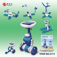 6 in 1 solar toy ecumenical robot diy assembling deformation toys gift assembling model