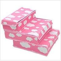 free shipping good hight quality whloesale news desinger hot Piece storage box set underwear with lid storage box underwear box