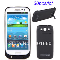 30pcs/lot 3200mAh External Backup Battery Charger Case For Samsung Galaxy S3 S III i9300 + Retail Package