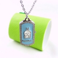 Rabbit watch scampish mashimaro rabbit cartoon watches shuangpai necklace pocket watch l