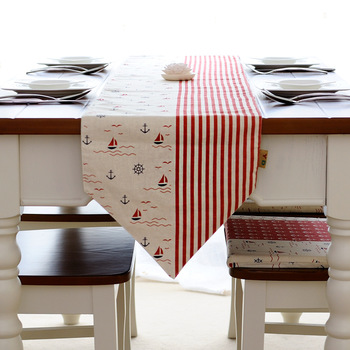 Linen fabric table runner long mat customize
