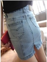 Women's 2013 summer tight skirt step denim short skirt all-match denim skirt bag skirt