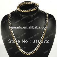 Free Shipping! 304 Stainless Steel Jewelry Set, Bracelet & Necklace SSJ23