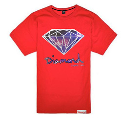 Diamond supply short-sleeve T-shirt diamond hiphop lovers design short tee lrg 10 deep fashion O-neck t shirt fashion brand(China (Mainland))