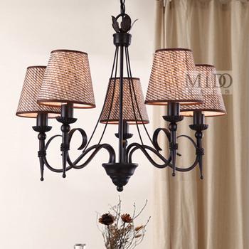 Us american style antique simple european iron pendant light pendant light