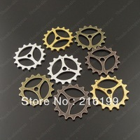 Whosesale Mixed Vintage Style Alloy Wheel Gear Charm Pendant Jewelry Finding Decor 60PCS 37999