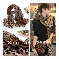 (Min order is $10) Women's Fashion Long Soft Wrap Lady Shawl Silk Leopard Chiffon Scarf Scarves Newwl!