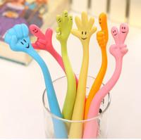 Free shipping 10 pcs/lot, Wholesale novelty ball pen Cute cartoon fingers ballpoint pen Children's school supplies kids gift