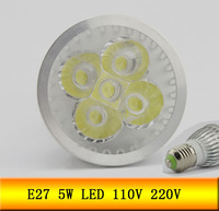 6PCS 110V 220V E27 5W Led Bulb Warm White Light High Power LED Spot Lamp FREE SHIPPING