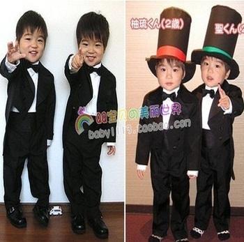 Retail 1 pcs 2013 New Design Children clothing set  suit boy kids suits blazers wedding wear CC0176