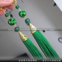 free shipping Chinese style viscose tassel agate national earrings yingou earrings