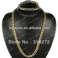 Free Shipping! Punk 304 Stainless Steel Bracelet & Necklace Jewelry Set SSJ22